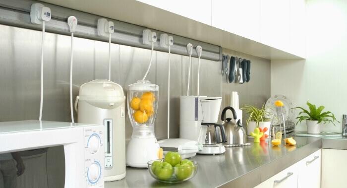расположение техники на кухне